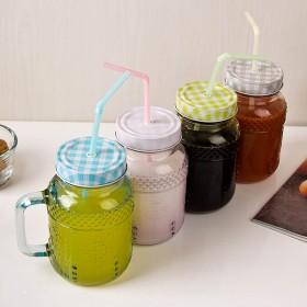 [↓50% OFF]MAKA 칼라 Straw-Drinking Jar (빨대드링크자) 580ml 1P