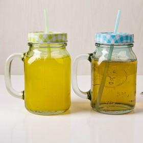 Mason Straw-Drinking Jar (칼라캡 빨대 드링크자) 550ml 1P