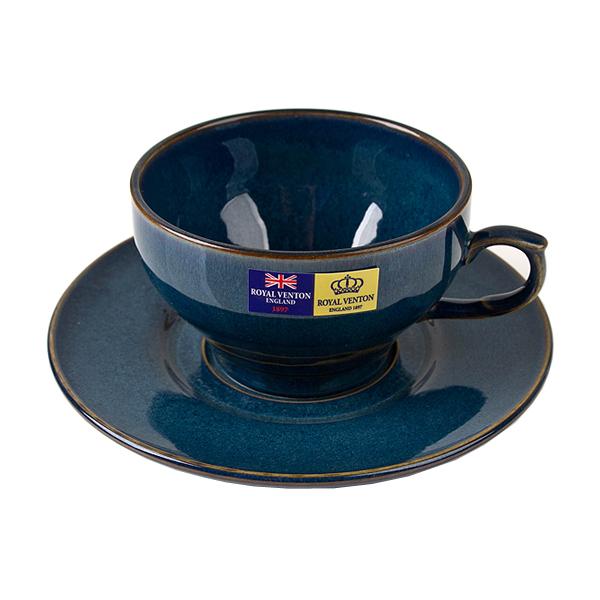 Royal Venton 빈티지-블루 커피잔세트 (2인조)
